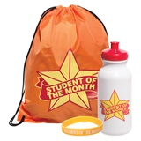 Full-color Backpack Award Set - Student of the Month Star