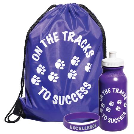 1-color Backpack Award Set - On the Tracks to Success