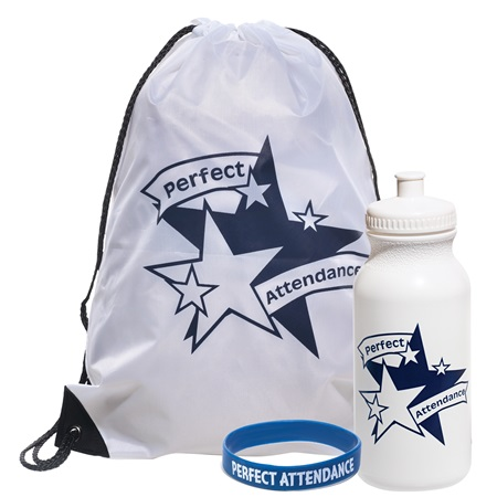 1-color Backpack Award Set - Perfect Attendance/Stars