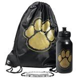 Paw Bag, Bottle, and Wristband Set - Black