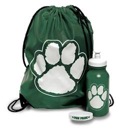 Paw Pride Backpack Set - Green