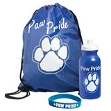 Paw Pride Bag, Bottle, and Bracelet Award Set