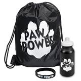 Paw Power Backpack, Bottle, and Wristband Set