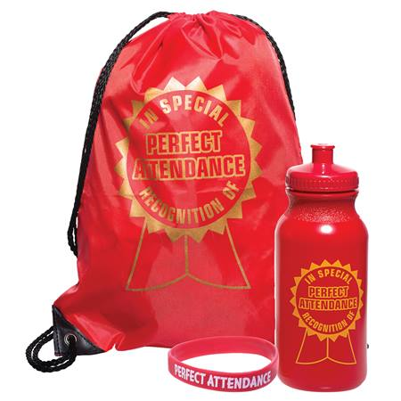 1-color Backpack Award Set - Perfect Attendance/Ribbon