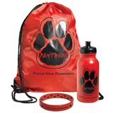 Custom Paw Backpack Award Set with Bottle
