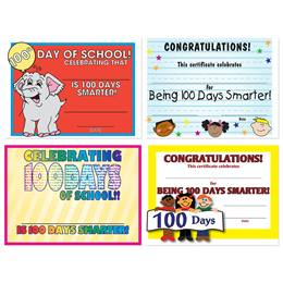 Assorted Certificate Set - 100 Days