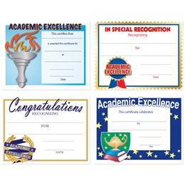 Assorted Certificate Set - Academic Excellence