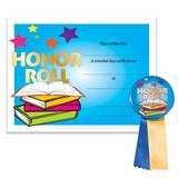 Certificate/Button Award Set - Colorful Honor Roll