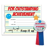 Certificate/Button Award Set - Outstanding Achievement