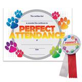 Certificate/Button Set - Paw Perfect Attendance
