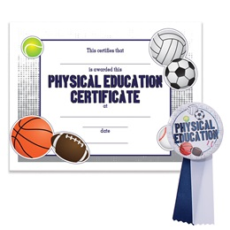 Certificate/Button Award Set - Physical Education