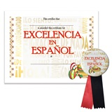 Certificate/Button Award Set- Excellence in Spanish
