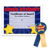 Certificate/Button Award Set- Super Student Star
