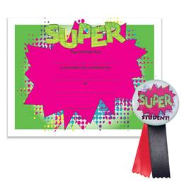 Certificate/Button Award Set- Super Student