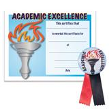 Certificate/Button Award Set- Academic Excellence Torch