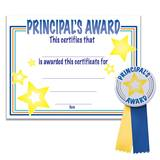 Certificate/Button Award Set- Gold Star Principal's Award