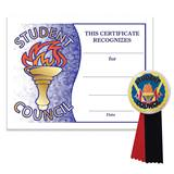 Certificate/Button Award Set- Student Council Torch
