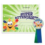 Certificate/Button Award Set - Super Attendance