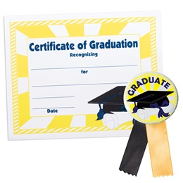 Certificate/Button Award Set - Graduation