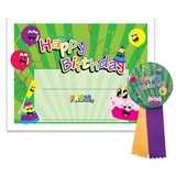 Certificate/Button Award Set - Happy Birthday Party
