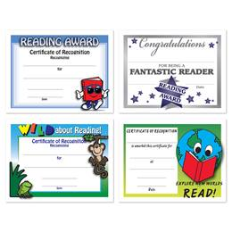 Assorted Certificate Set - Reading