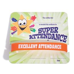 Mini Certificate/Wristband Set - Super Star Attendance
