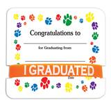 Wristband/Mini Certificate Award Set - Graduation Paw