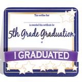 Wristband/Mini Certificate Award Set - 5th Grade Graduate