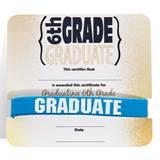 Wristband/Mini Certificate Award Set - 6th Grade Graduate