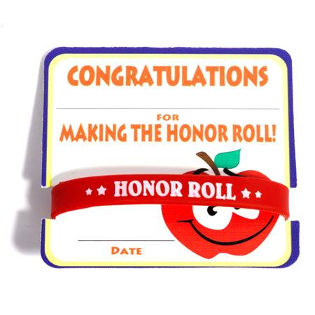 Mini Certificate/Wristband Set - Honor Roll/Apple