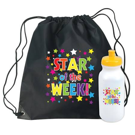 Star of the Week Backpack and Water Bottle Set