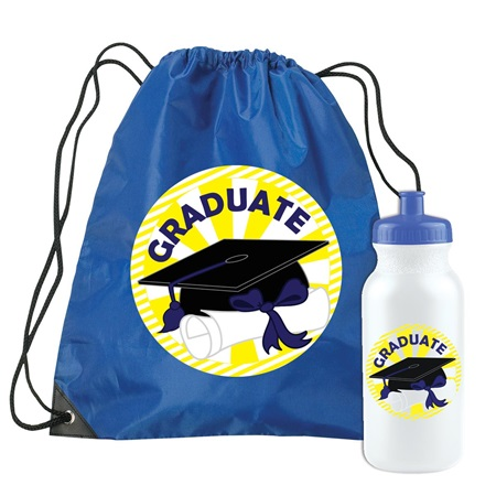 Graduate Backpack and Water Bottle Set