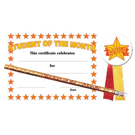 Certificate Award Set - Student of the Month/Stars