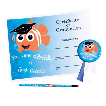 Certificate Award Set - You Are O'fishally a First Grader