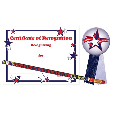 Certificate Award Set - Perfect Attendance