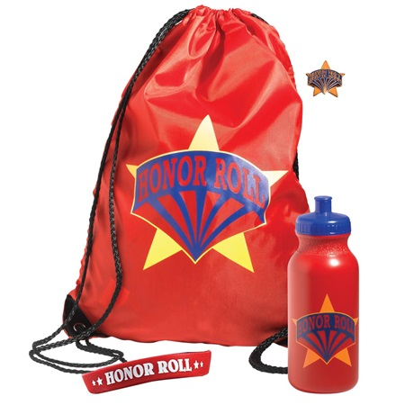 Backpack Award Set 4 pcs - Honor Roll Red