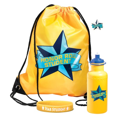 Backpack Award Set 4 pcs - Honor Roll Yellow
