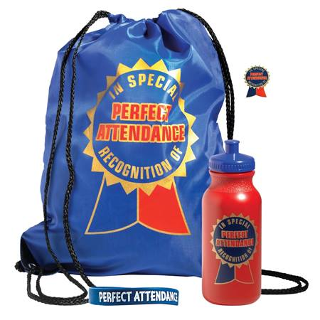 Backpack Award Set 4 pcs - Perfect Attendance Recognition