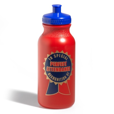 Perfect Attendance Water Bottle - Ribbon