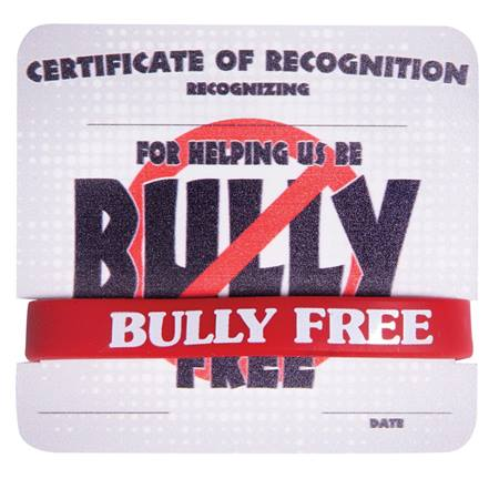 Mini Certificate/Wristband Set - Helping Be Bully Free
