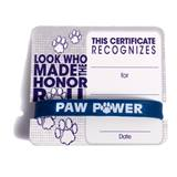 Mini Certificate/Wristband Set - Honor Roll/Paws