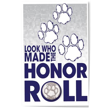 Pin Card - Honor Roll Paws