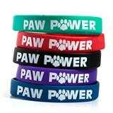 Paw Power Silicone Wristband Assortment, 25/pkg