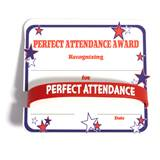 Mini Certificate/Wristband Set - Perfect Attendance