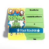 Mini Certificate/Wristband Set - Reading Super Power