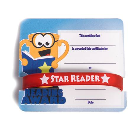 Mini Certificate/Wristband Set - Reading Trophy