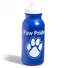 Paw Pride Water Bottle - Blue/White