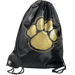 Paw Backpack - Black/Gold