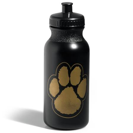 Paw Water Bottle - Black/Gold