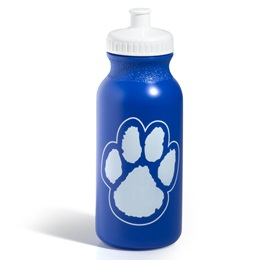 Paw Water Bottle - Blue/White